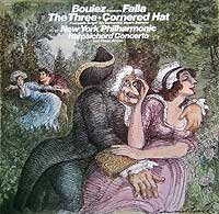 Pierre Boulez conducts Falla's Three Cornered Hat ballet (Columbia LP cover)