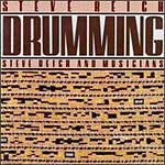Cover of the Nonesuch CD of Steve Reich's Drumming